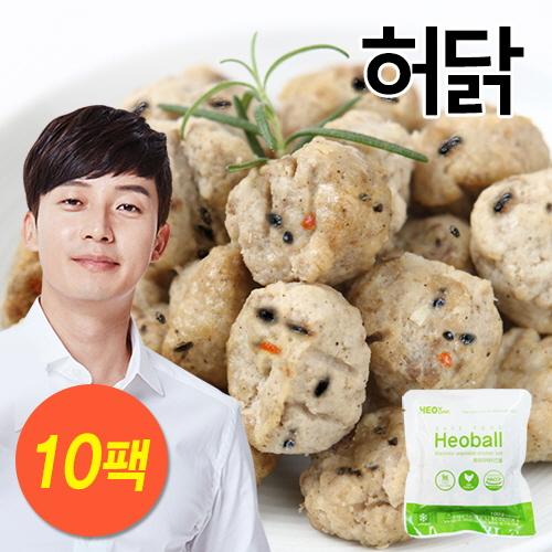 [무료배송] [허닭] 흑미 야채 치킨 볼 1kg (100g×10팩)