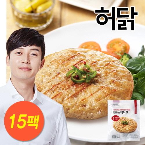 [무료배송] [허닭] 닭가슴살 스테이크 청양고추맛 1.5kg (100g×15팩)
