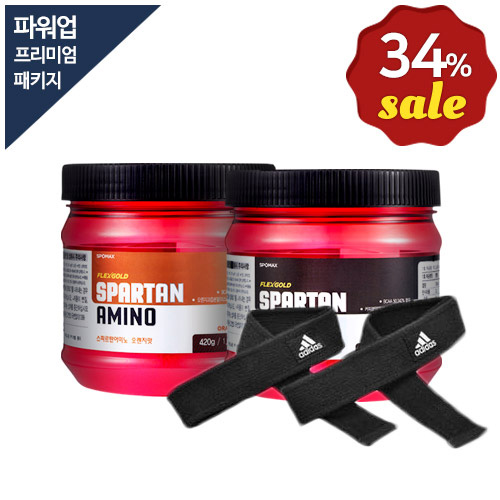 [무료배송+34%할인] 스파르탄아미노+면스트랩 프리미엄 패키지