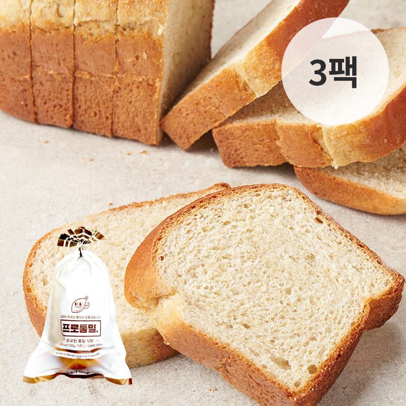 [무료배송] [바디닭] 닥터밀 프로통밀 미니식빵 3팩