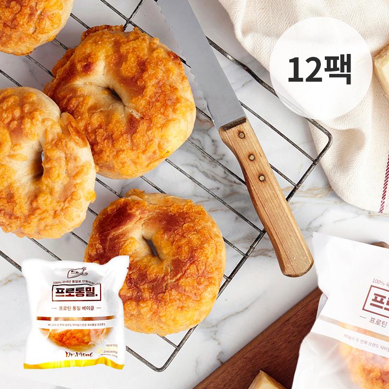 [무료배송] [바디닭] 닥터밀 프로통밀 치즈베이글 12팩