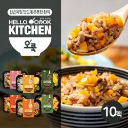 [무료배송] [오쿡] 영양밥 혼합 6종 도시락 (10팩)